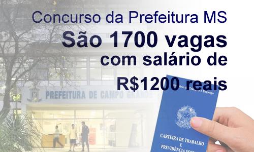 Prefeitura de Campo Grande abre 1.700 vagas